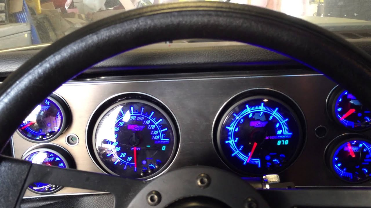 79 Camaro Glowshift Elite 10 Gauges Youtube
