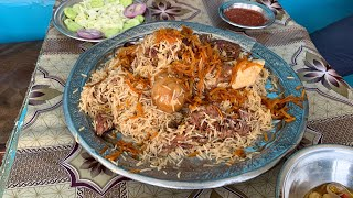 Street Food In Peshawar - MOUNTAIN OF KABULI PULAO - Chapal Kebab, Raw Meat BBQ in Pakistan