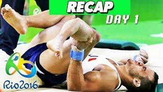 rio olympics 2016 results highlights samir ait said breaks leg day 1 recap august 6 2016