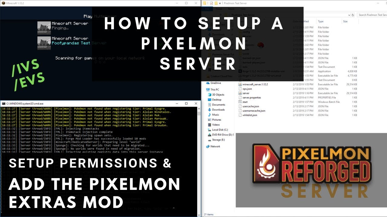 How to Setup a Pixelmon Server w/ Pixelmon Extras and Permissions  (Minecraft Forge 1 12 2)