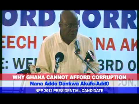 Speech - Why Ghana Cannot Afford Corruption