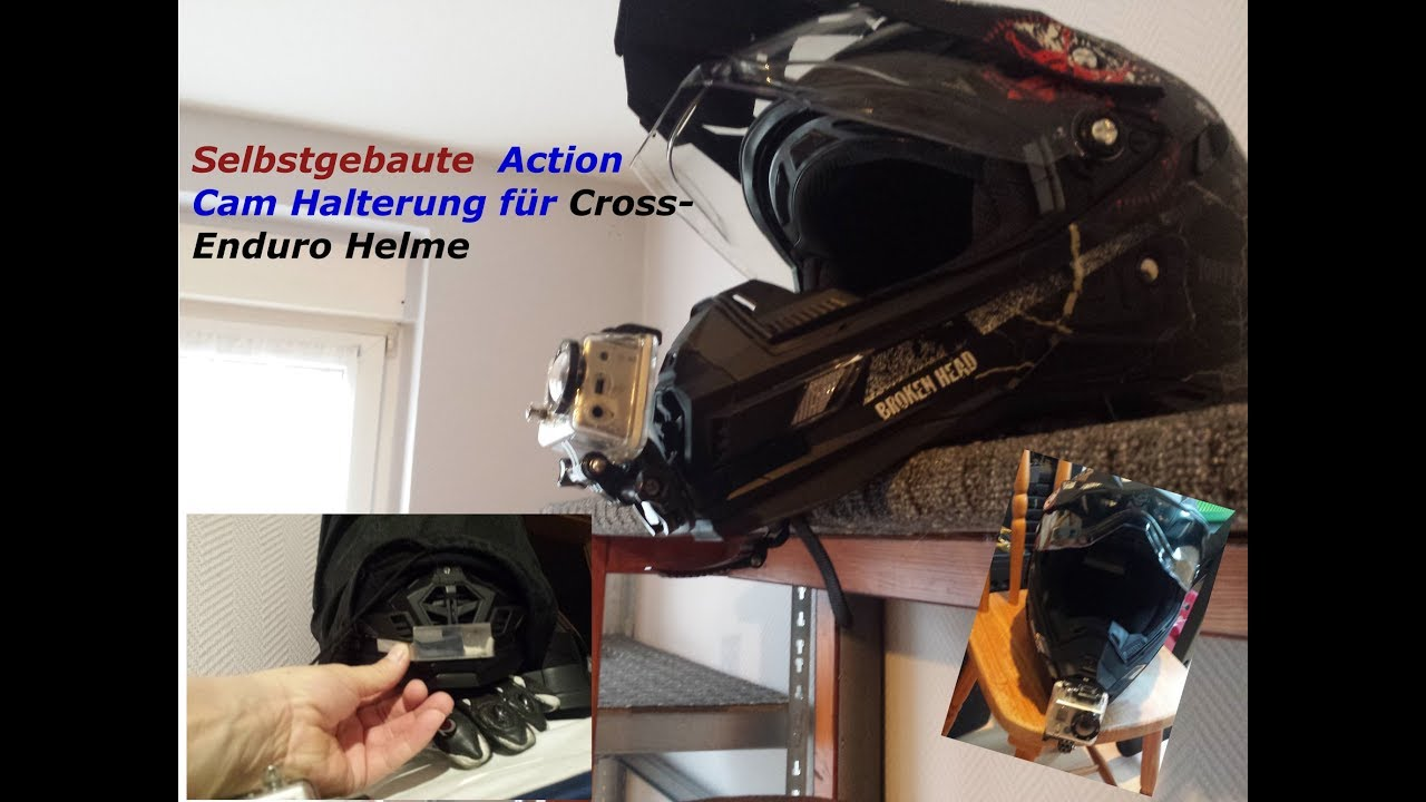 action cam halterung enduro cross helm selbst gebaut youtube. Black Bedroom Furniture Sets. Home Design Ideas