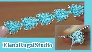 Вязание с бисером шнура Урок 165