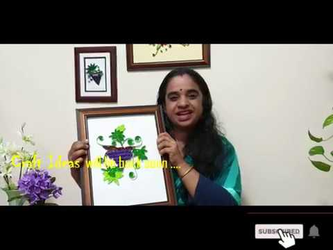 Paper Quilling Grape Craft Ideas From Deepa Hari In Malayalam
