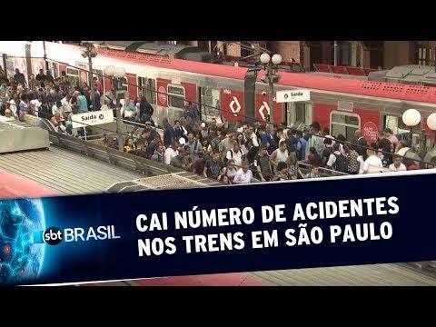 Cai número de acidentes nos trens da CPTM em São Paulo | SBT Brasil (02/07/19)