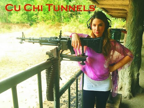 Cu Chi Tunnels Tour in VIETNAM - Vacation Travel Guide // Fire Automatic Weapon