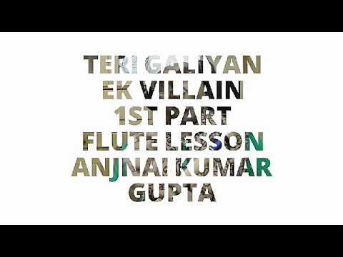 तेरी गलियाँ,गलियाँ तेरी गलियाँ ,EK Villain,Teri Galiyan, GaliyanTeri Galiyan,1st Part, Flute Lesson,