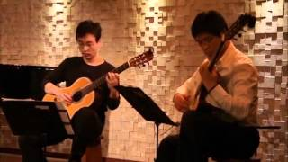 G.P. Telemann - Canon Sonata in G major, TWV 40:118 played on guitars