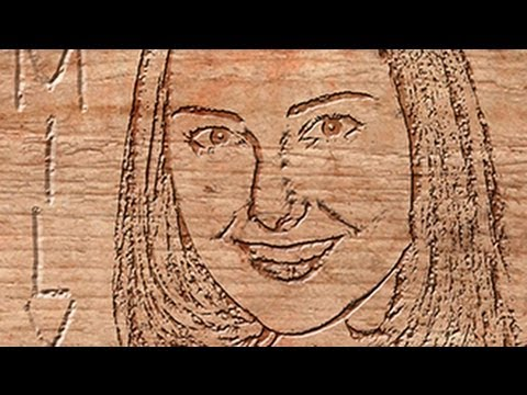 Photoshop Tutorial: How To Make A PHOTO Into A WOODCUT Carving