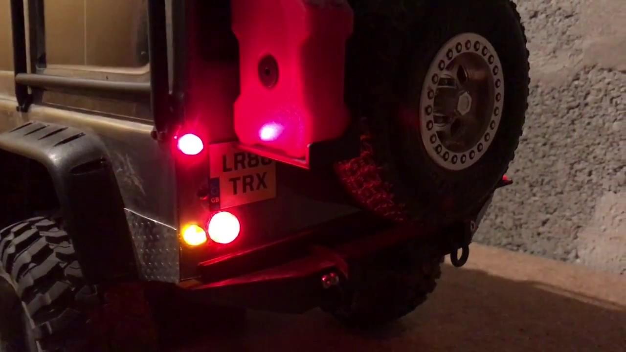 Led Light For Car Headlight >> New Traxxas TRX-4 LED Light Kit Brake + Headlight + Signal Fit RC Car truck 1/10th - YouTube