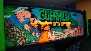 Snk's guerilla war arcade machine - late 80's rotary joystick game