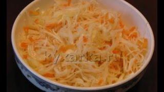 видео Бабушкин рецепт Квашеной капусты.