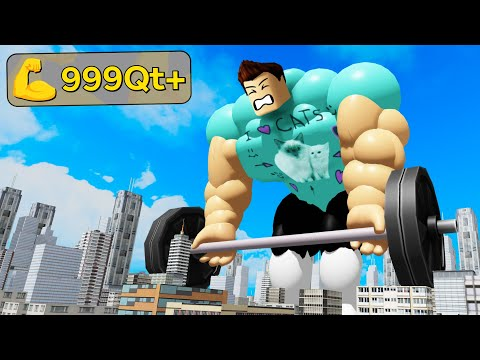 I Lifted The MAX WEIGHT In Roblox Fitness Simulator