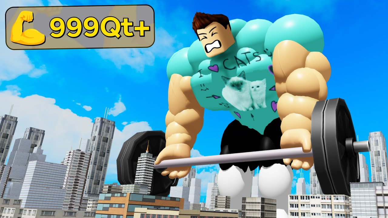 I lifted the MAX WEIGHT in Roblox Fitness Simulator thumbnail