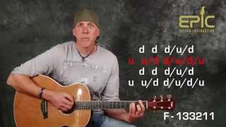 Play guitar learn Counting Crows Mr Jones EZ beginner song lesson with chords strumming patterns FUN