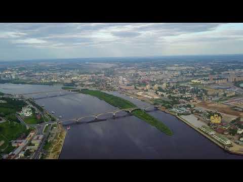 Нижний Новгород с высоты птичьего полета. Июль 2017