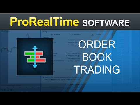 Trading from the order book (depth of market) - ProRealTime