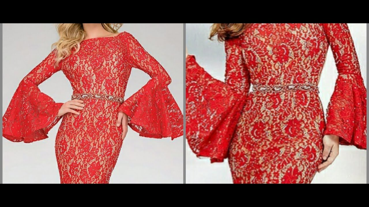 Bell Sleeves Umbrella Pompom Sleeves Cutting And Stitching Youtube