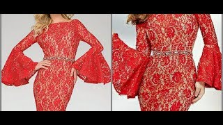 bell sleeves umbrella pompom sleeves cutting and stitching