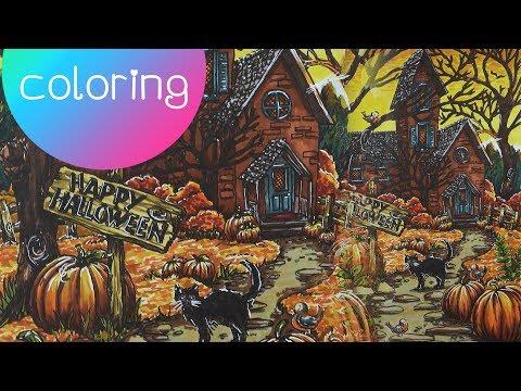 Coloring Book Journey - 034 Autumn Scenes by Teresa Goodridge