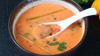 থাই সুপ একটু ভিন্ন স্বাদে (ডিম ছাড়) | Tom kha gai/Thai Coconut Soup | Bangladeshi Thai Soup
