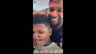 Usher - quarantine Dance Moves with his son on Instagram Live