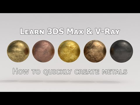 How to create old metal materials in VRay - brass, copper, gold, bronze, blackened steel