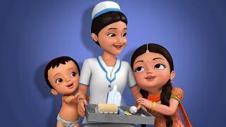 Nurse Song - सामुदायिक सहायक   Hindi Rhymes for Children   Infobells