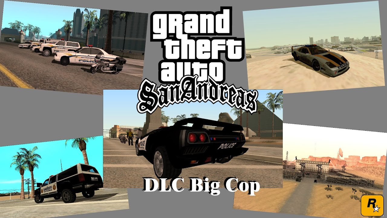 dlc big cop for gta san andreas 55 cars not replacement youtube. Black Bedroom Furniture Sets. Home Design Ideas