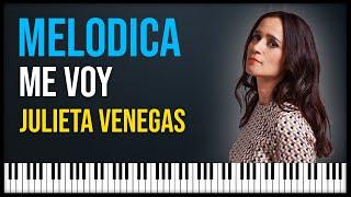 me voy - julieta venegas notas para melodica y acordeon