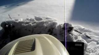 cub cadet tractor plowing snow 2
