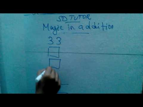 Finding the sum without knowing the numbers-vedic maths-(TAMIL)-sathiskumar education