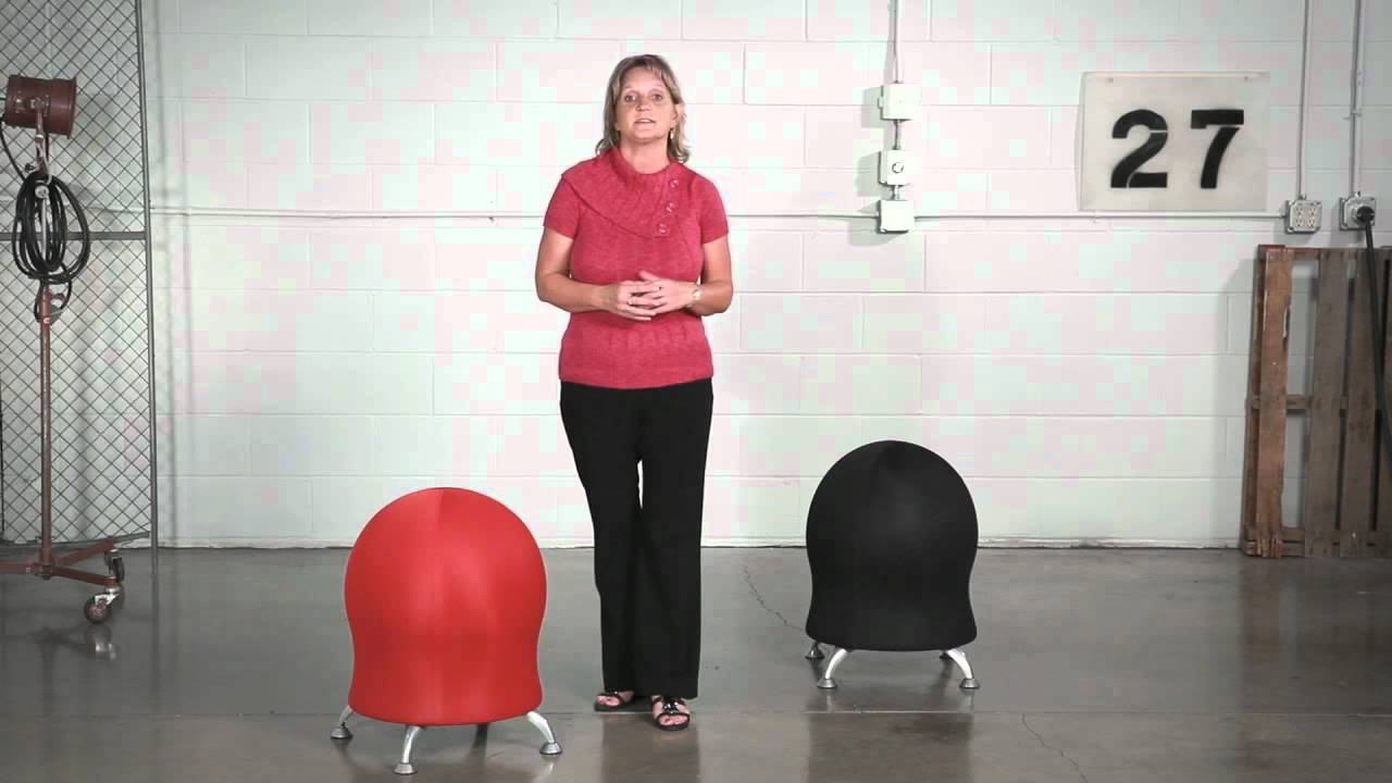 Ball Chair Safco Zenergy™ Ball Chairs - Youtube