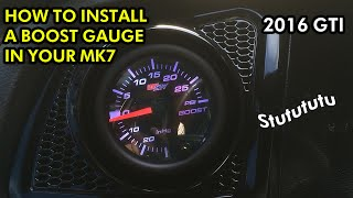 How to Install a Boost Gauge into Your MK7 Golf / GTI / R(First off: thanks for 100 subscribers - we're super stoked! In this video Deren explains how to install a GlowShift Boost Gauge into his MK7 GTI. It allows you to ..., 2016-08-13T22:08:37.000Z)