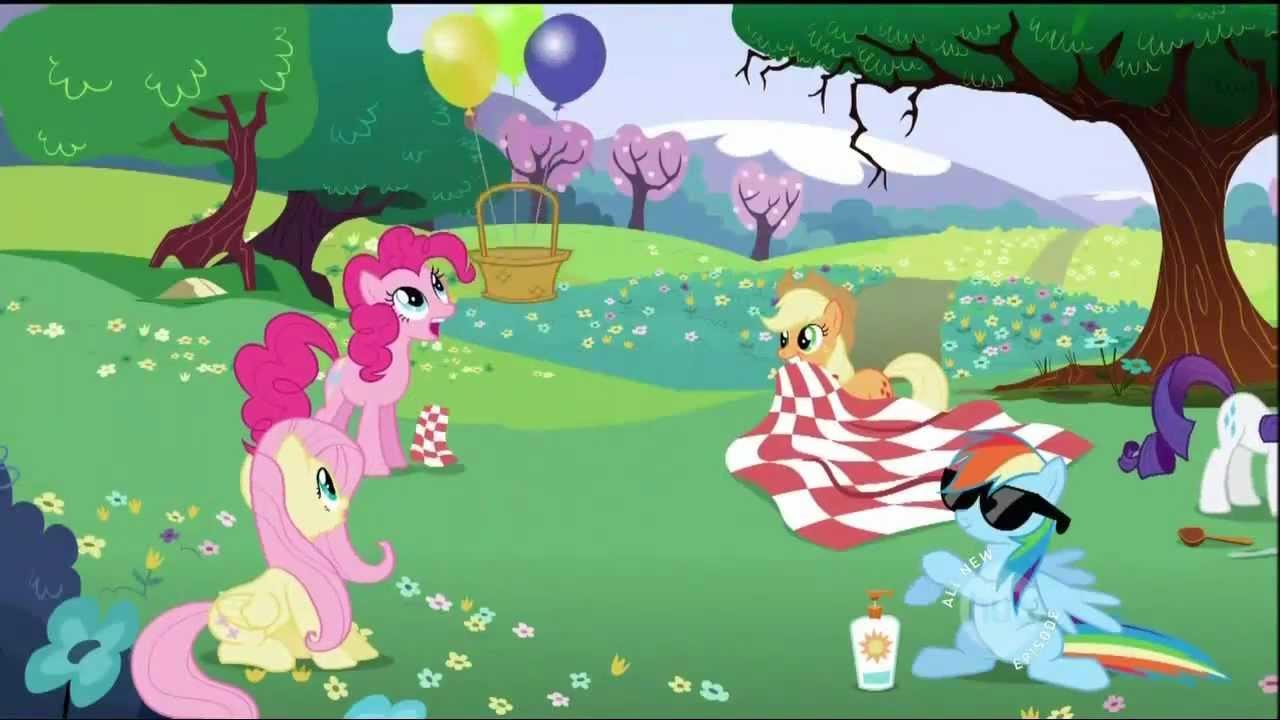 Pinkie Pie's flying picnic basket - YouTube