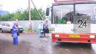 В Нижнекамске остановку автобуса поставили прямо около калитки одной из дачниц