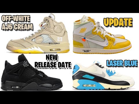 OFF-WHITE AIR JORDAN 5 CREAM, OFF-WHITE JORDAN 1 CANARY YELLOW, JORDAN 4 BLACK CAT, AM90 OG AND MORE