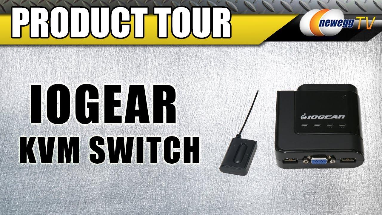 Newegg TV: IOGEAR GCS24U 4-Port USB Cable KVM Switch Product Tour
