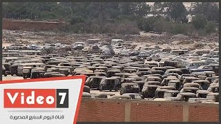 """""""مقابر السيارات"""".. كنز مفقود على مشارف """"6 أكتوبر"""""""