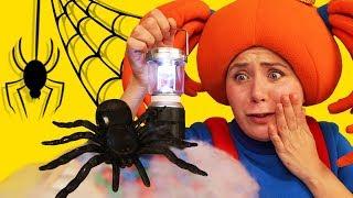 🎃 Хэллоуин! Царевна рассказывает страшилку про черного паука 🕷 Поиграйка  #Halloween 2017