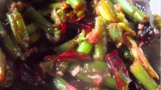 Острый салат из стручковой фасоли и свеклы