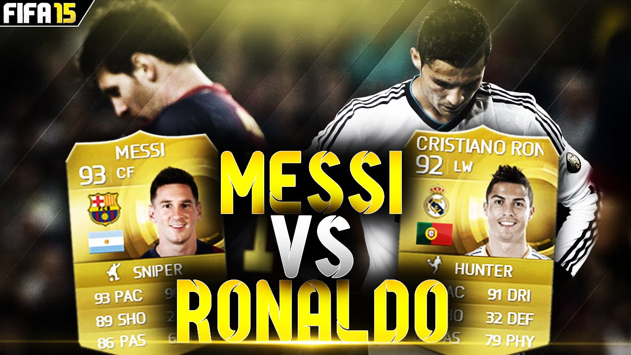 MESSI VS RONALDO!!! WHO IS THE BETTER PLAYER? FIFA 15 ...