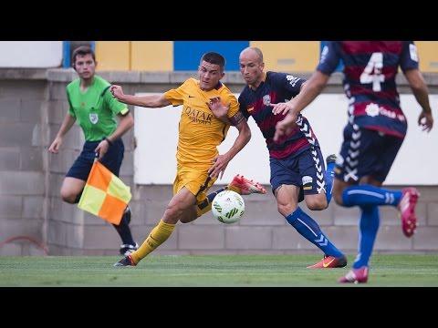 Amistoso íntegro entre el Llagostera y el Barça B (1-0)