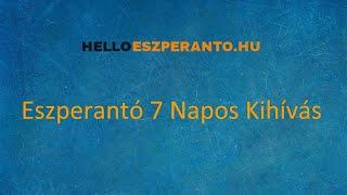 Eszperantó 7 Napos Kihívás INTRO