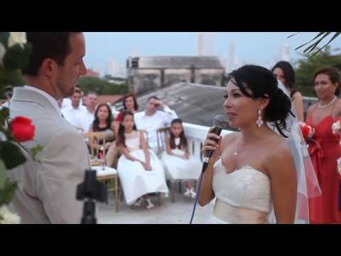 Eric & Katy Sigmon Wedding Ceremony, Cartagena, Colombia