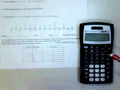 Standard Deviation With TI30XIIS