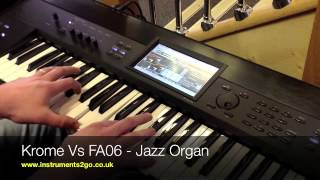 Korg Krome vs Roland FA-06 Comparison Video No Talking Just Playing