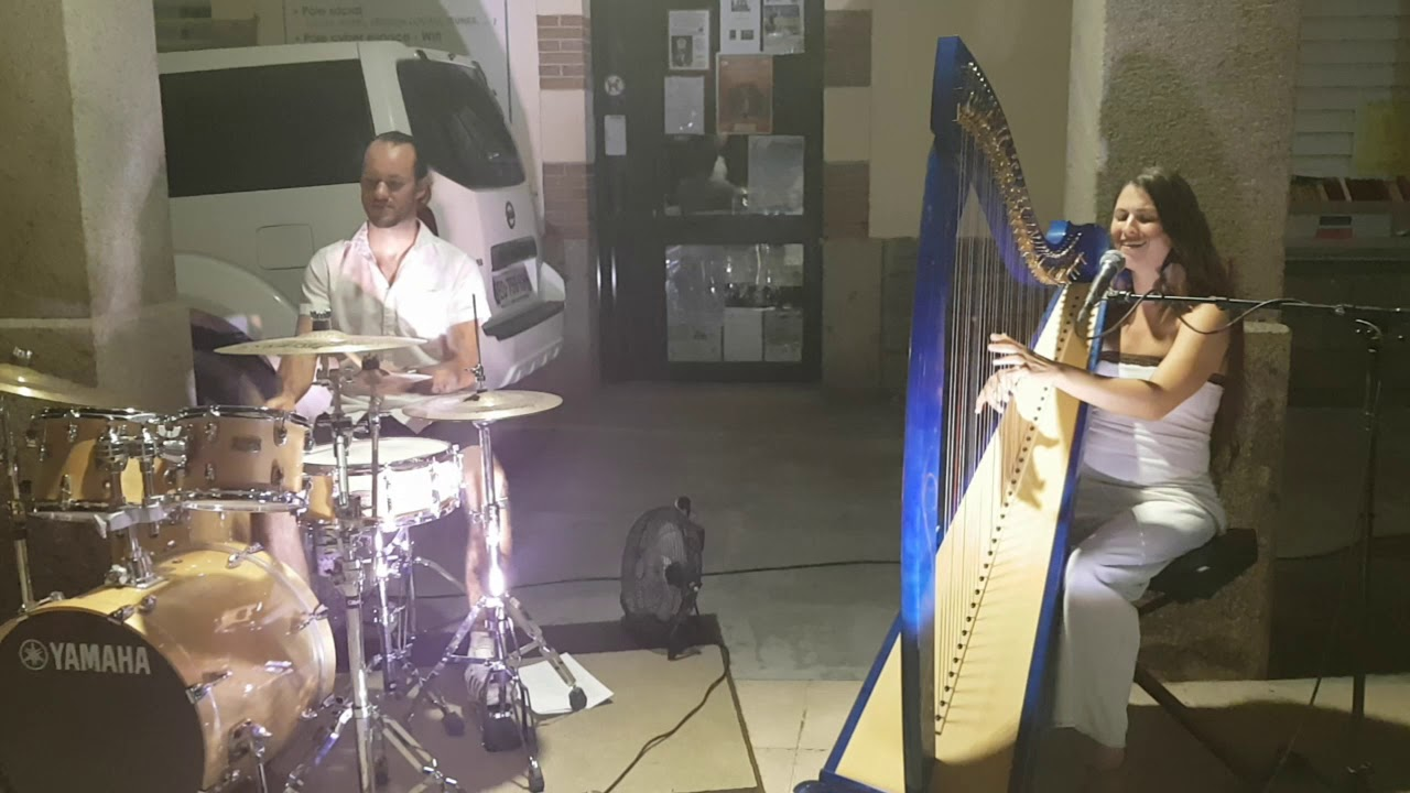 Wolfpack - original composition by Evélina Simon - duo harpe batterie / duo drum and harp