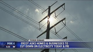 ERCOT asks homes and businesses to cut down on electricity Thursday and Friday