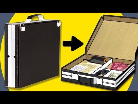 Cardboard Spy Briefcase | DIY Craft Ideas for Kids on Box Yourself